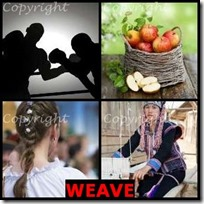 WEAVE- 4 Pics 1 Word Answers 3 Letters