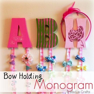bow holding monogram square