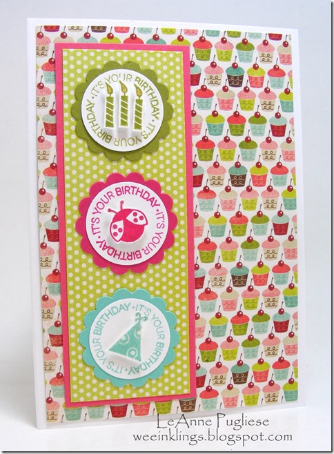 LeAnne Pugliese WeeInklings FMS99 A Fitting Occasion Birthday Stampin Up