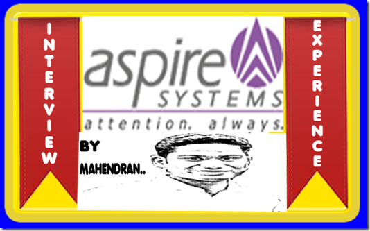Aspire system interview experience