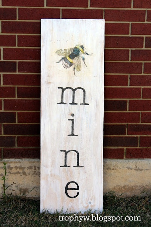 bee mine sign