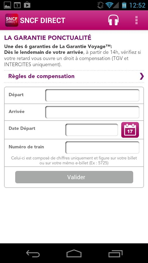 SNCF DIRECT - screenshot