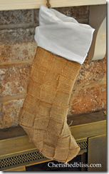 Weaved Burlap Stocking