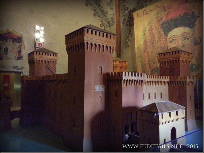 Il modellino del Castello Estense. foto2,Ferrara,EmiliaRomagna,Italia - The model of the Castle Estense.foto 2, Ferrara, Emilia Romagna, Italy - Property and Copyrights of FEdetails.net
