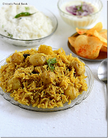 Baby Potato Biryani Recipe