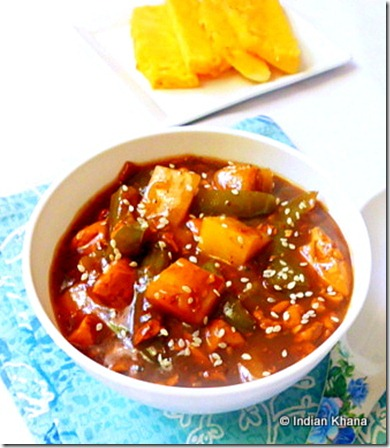 Easy indian chinese tofu pineapple manchurian recipe