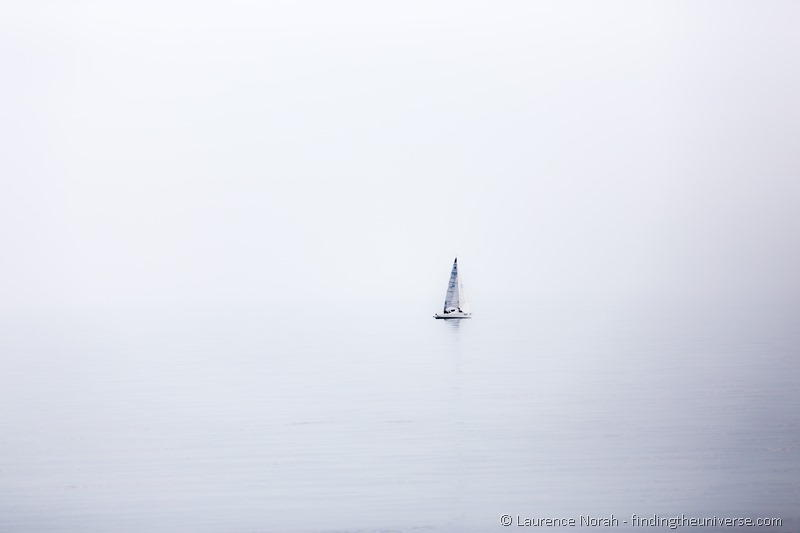 Sailboat on Lake Garda Italy