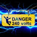 Danger Electric Blue Lightning logo