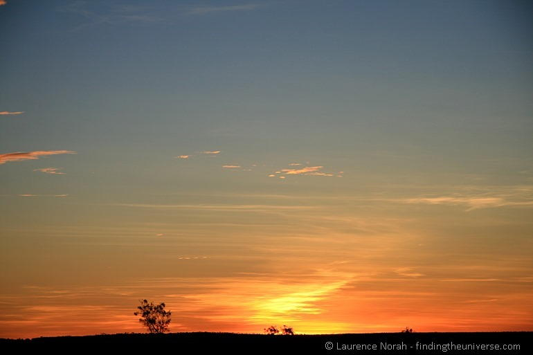 Outback sunset - wide open apertureJPG