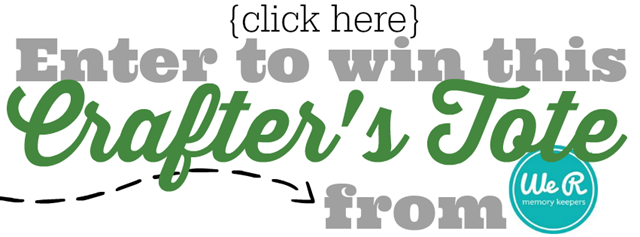 Enter to win a Crafter's Tote from We R Memory Keepers #giveaway