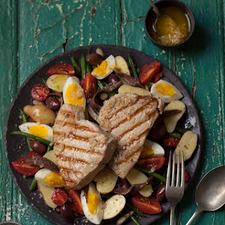 Grilled Tuna Steak With Salad Recipes.