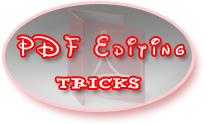 PDF Editing TRicks