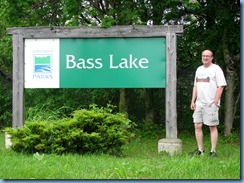 4514 Bass Lake Provincial Park - our walk in the Park - Bill at Bass Lake sign