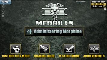 Screenshot of Medrills: Army Admin Morphine