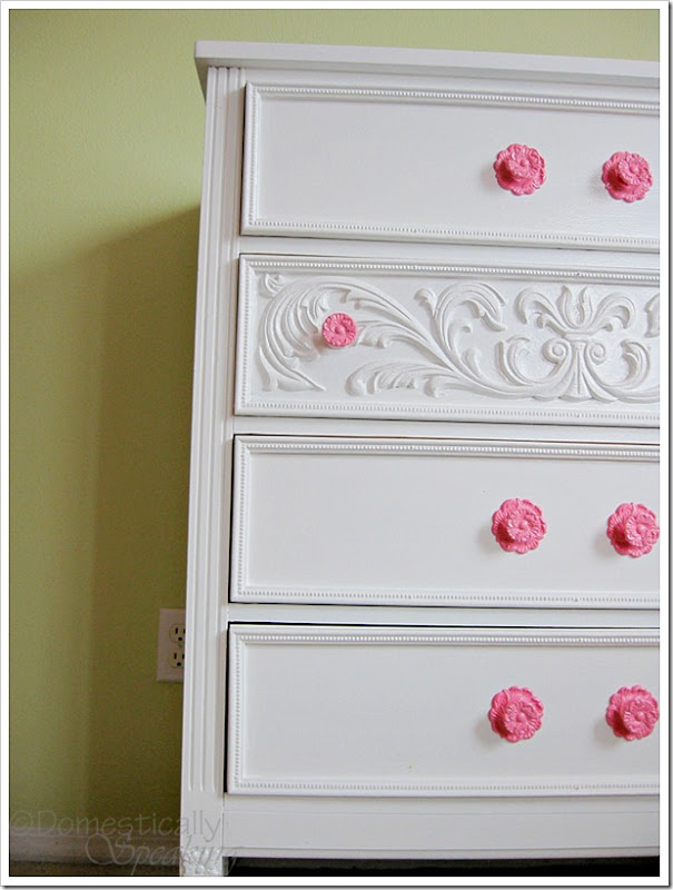 Laminate Dresser turned gorgeous with paint!