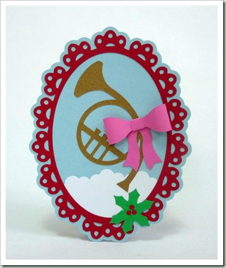evelyn french horn oval frame n 3d bow