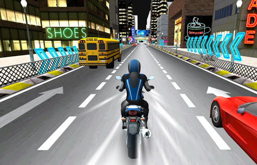 traffic racing moto game
