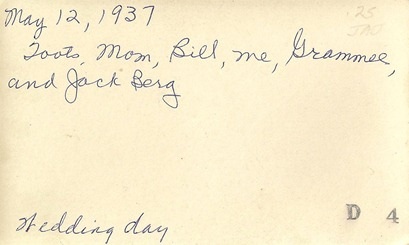 May 12 1937 Bill and all DL Antiques back