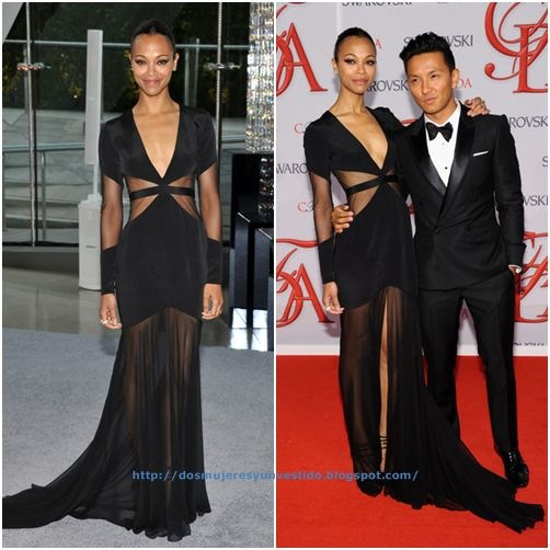 Zoe Saldana 2012 CFDA Fashion Awards