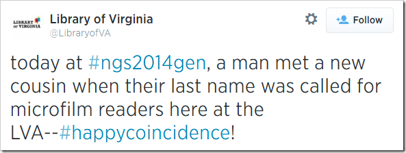 今天在#ngs2014gen,一个男人遇到了一个新的堂兄,当他们的姓氏被称为这里的麦片读者在LVA  -  #upplyCoincente!