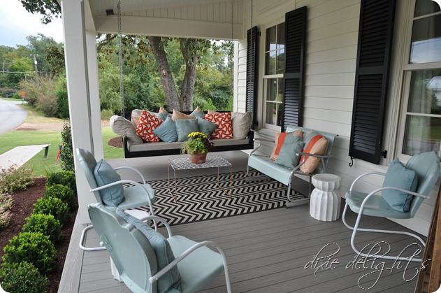 Southern living 2012 idea house dixie delights for Farmhouse porch swing