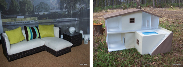 Jazzi's miniature outdoor furniture