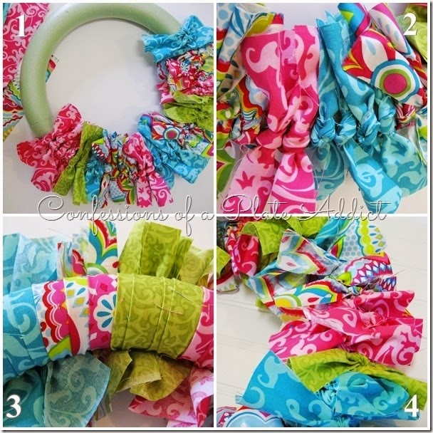 CONFESSIONS OF A PLATE ADDICT No-Sew Fabric Wreath Tutorial