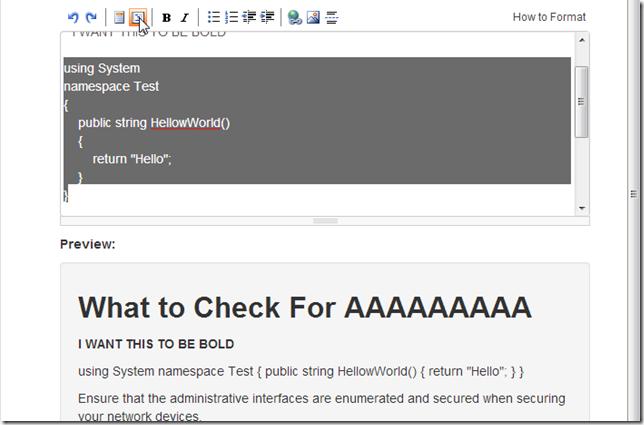 Dinis Cruz Blog: Adding MarkdownDeep browser-based Markdown