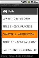 Screenshot of Georgia Law Ref