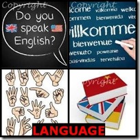 LANGUAGE- 4 Pics 1 Word Answers 3 Letters