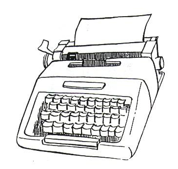 maquinas de escribir para colorear. Black Bedroom Furniture Sets. Home Design Ideas