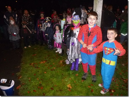 Childrens fancy dress competition winners and participants