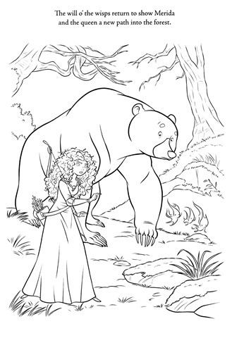 urso-floresta-princesa-coloring-pages-brave-valente-merida-desenhos-colorir