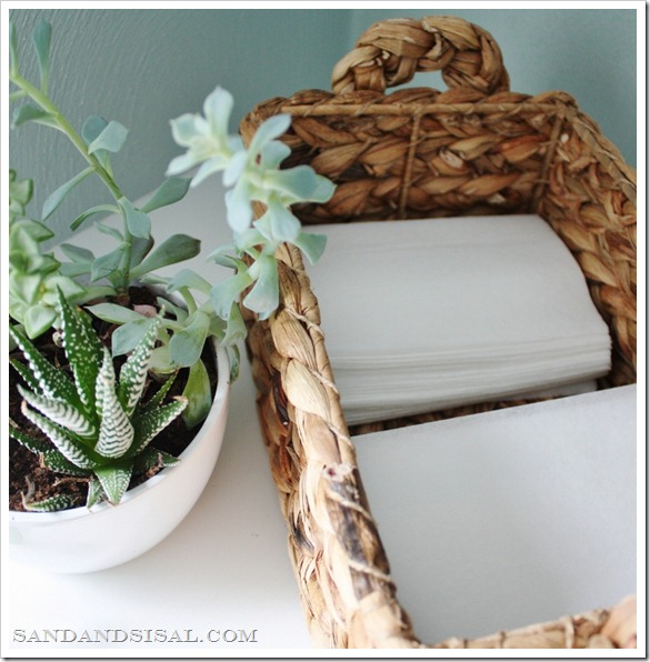 dryer sheet basket