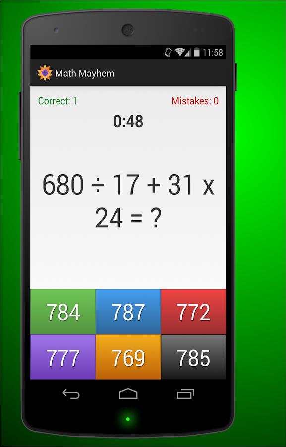 Math Mayhem - screenshot