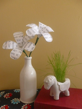 Four Post Lift >> Abernathy Crafts: Fabric and wire flowers
