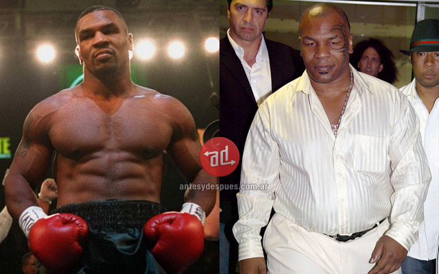 Mike Tyson before and after