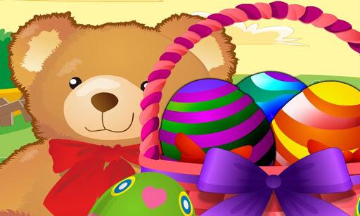 复活节彩蛋篮装饰