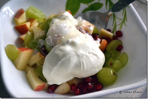 Navratri Fasting Vrat Fruit Salad in Yogurt Dresing Recipe