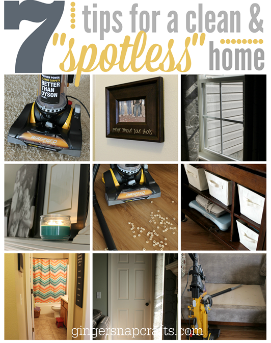 7 tips for a clean & spotless home at GingerSnapCrafts.com #EurekaPower #collectivebias #shop