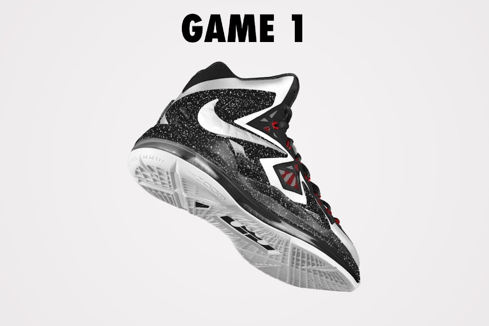 hot sale online 63775 cfee7 ... DIY Nike LeBron X PS Elite iD White amp Black Game 1 ...