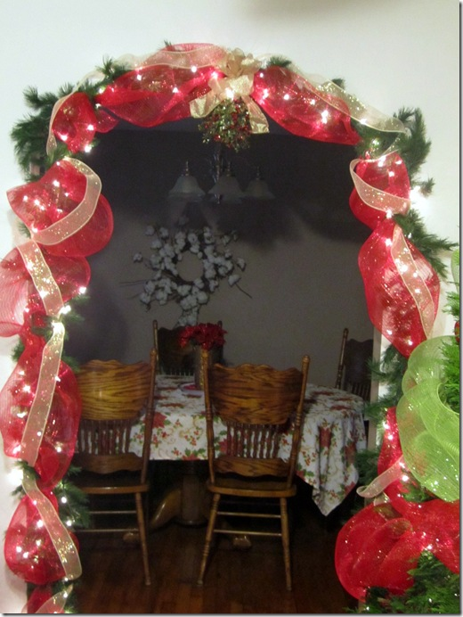 Deco Mesh Garland Doorway