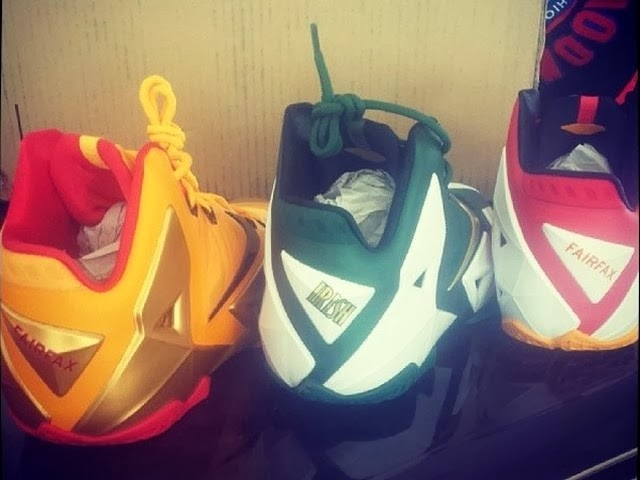 43c5a44ec9839 Nike LeBron 11 8211 SVSM Home 2x Fairfax 8211 Player Exclusives ...