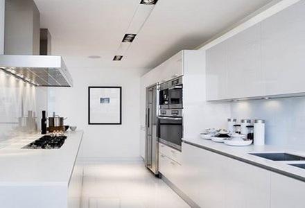 blanca-cocina-minimalista Cocinas modernas blancas