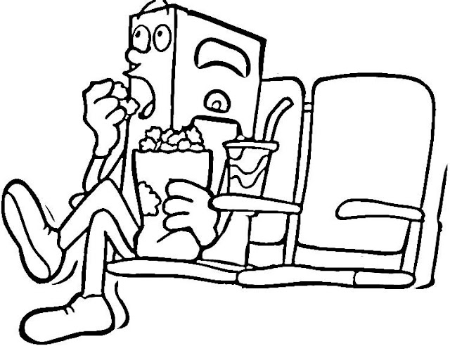 movie theater coloring pages - photo#8
