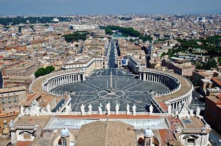 Obiective turistice Roma: Panorama de pe biserica San Pietro Vatican.