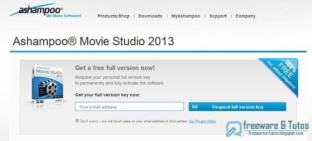 Offre promotionnelle : Ashampoo Movie Studio 2013 gratuit !