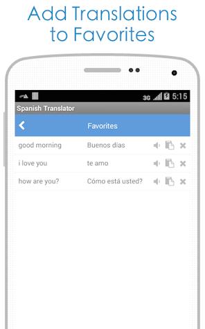 Spanish Translator Screenshot