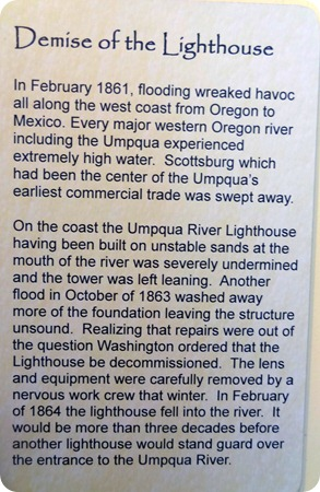 Demise of the original Umpqua Lighthouse