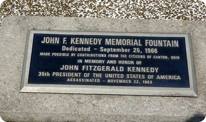 plaque for Kennedy memorial